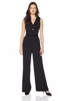 Calvin Klein Women's Button Down Belted Jumpsuit