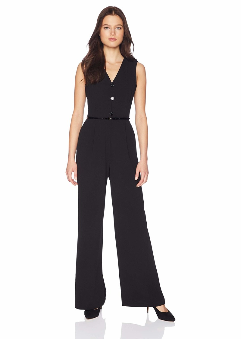 Calvin Klein Women's Button Down Belted Jumpsuit