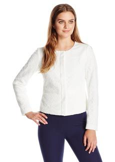 Calvin Klein Women's Button-Front Floral-Lace Jacket
