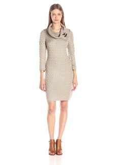 Calvin Klein Women's Cable Knit Sweater Dress  L