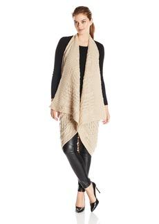 Calvin Klein Women's Cable Scarf-Vest Combo