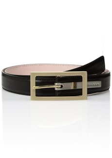 Calvin Klein Women's Calvin Klein Stitched Feather Edge Strap Belt black M