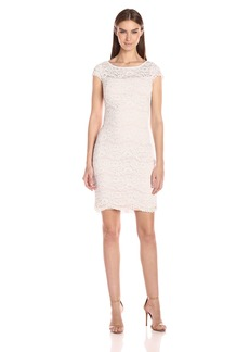 Calvin Klein Women's Cap Sleeve Lace Sheath Dress