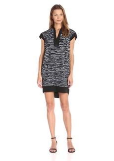 Calvin Klein Women's Cap Sleeve Printed Cacoon Dress