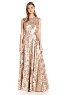Calvin Klein Women's Cap Sleeve Sequin Gown