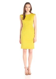 Calvin Klein Women's Cap Sleeve Sheath Dress with Seam Detail