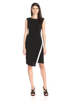 Calvin Klein Women's Cap-Sleeve Side-Ruched Dress with Asymmetric Hem