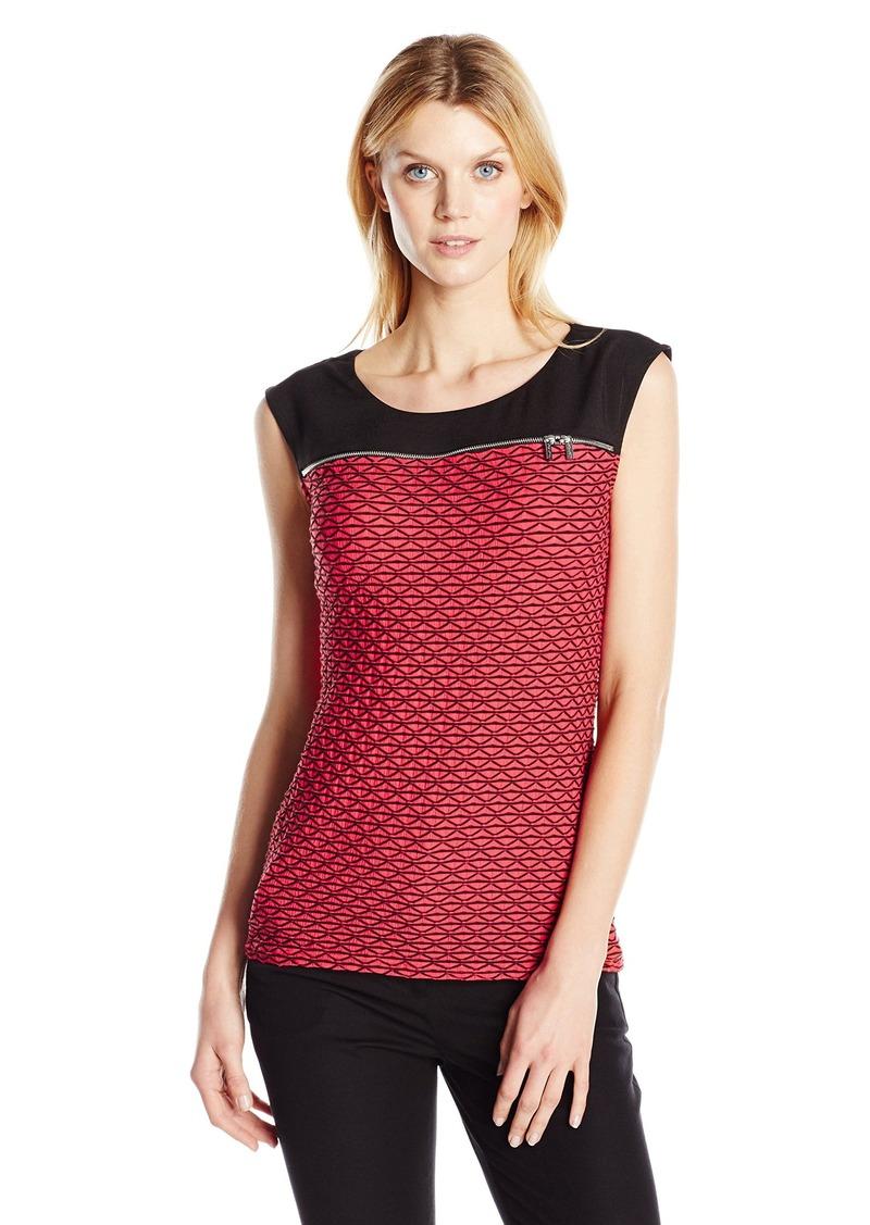 Calvin Klein Women's Cap-Sleeve Textured Top