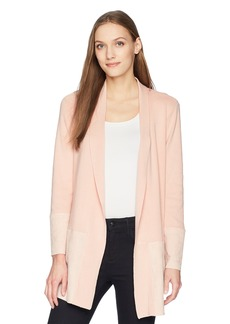 Calvin Klein Women's Cardigan with Suede Hem  XS
