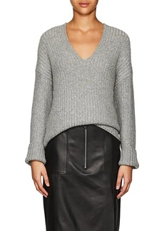 Calvin Klein Women's Cashmere-Blend V-Neck Sweater