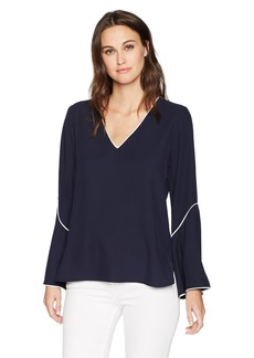 Calvin Klein Women's CDC V Neck with Flare Sleeve
