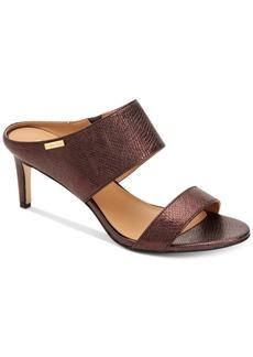 Calvin Klein Women's Cecily Foiled Lizard Shoes Women's Shoes