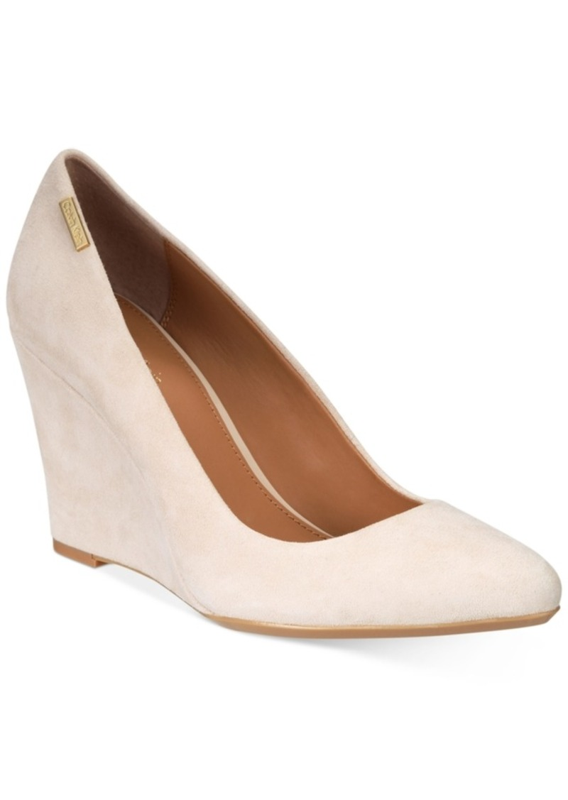 627bc97ca878 Calvin Klein Calvin Klein Women s Celeste Wedges Women s Shoes