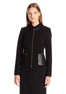 Calvin Klein Women's Center Zip Jacket W/ Pocket