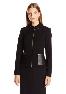 Calvin Klein Women's Center Zip Jacket W/ Pocket