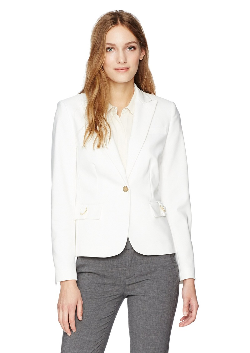 Calvin Klein Women's Center Zip Jacket with Hardware