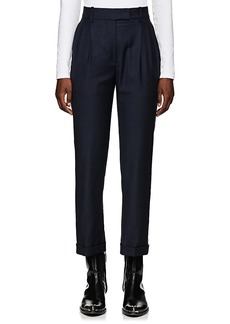 CALVIN KLEIN 205W39NYC Women's Checked Wool Pleated Trousers