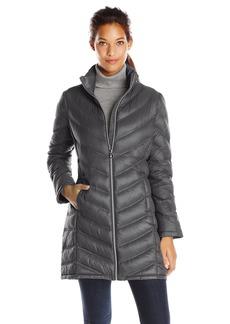 Calvin Klein Women's Chevron Packable Down Coat