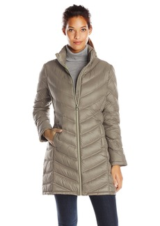Calvin Klein Women's Chevron Packable Down Coat Medium  Large
