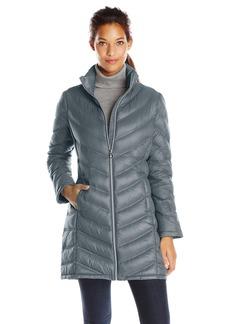 Calvin Klein Women's Chevron Packable Down Coat  X-Large