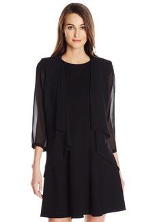 Calvin Klein Women's Chiffon Fly Front Shrug  XL
