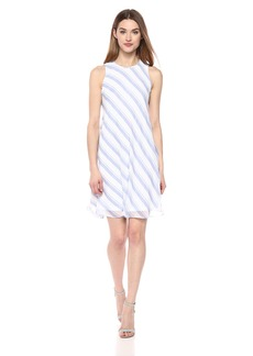 Calvin Klein Women's Chiffon Sleeveless Trapeze Dress