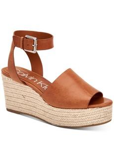 Calvin Klein Women's Chyna Espadrille Wedge Sandals Women's Shoes