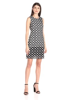 Calvin Klein Women's Circle Pattern Lace Sleeveless Sheath Dress