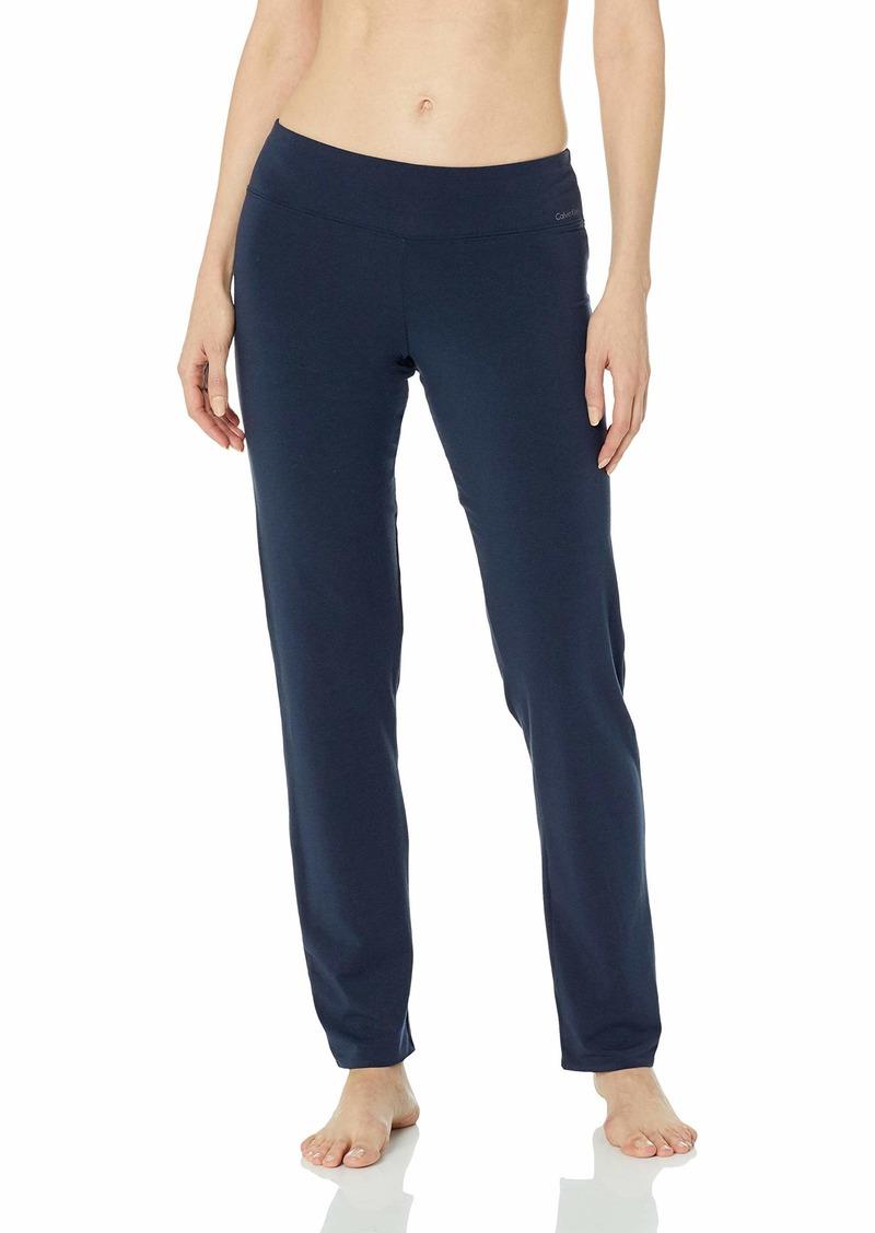 Calvin Klein Women's Ck Black Structure Sleepwear Sleep Pant  L