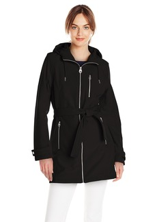 Calvin Klein Women's CK Classic Zip-Front Hooded Soft Shell Jacket