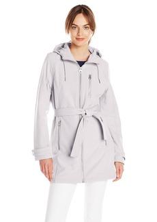 Calvin Klein Women's CK Classic Zip-Front Hooded Soft Shell Jacket