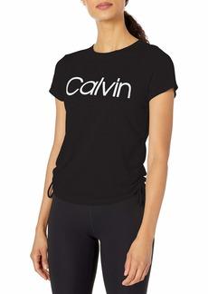 Calvin Klein Women's CK Logo Ruched Side Tee