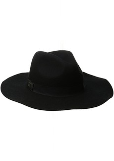 Calvin Klein Women's Ck Patch Wool Felt Panama Hat