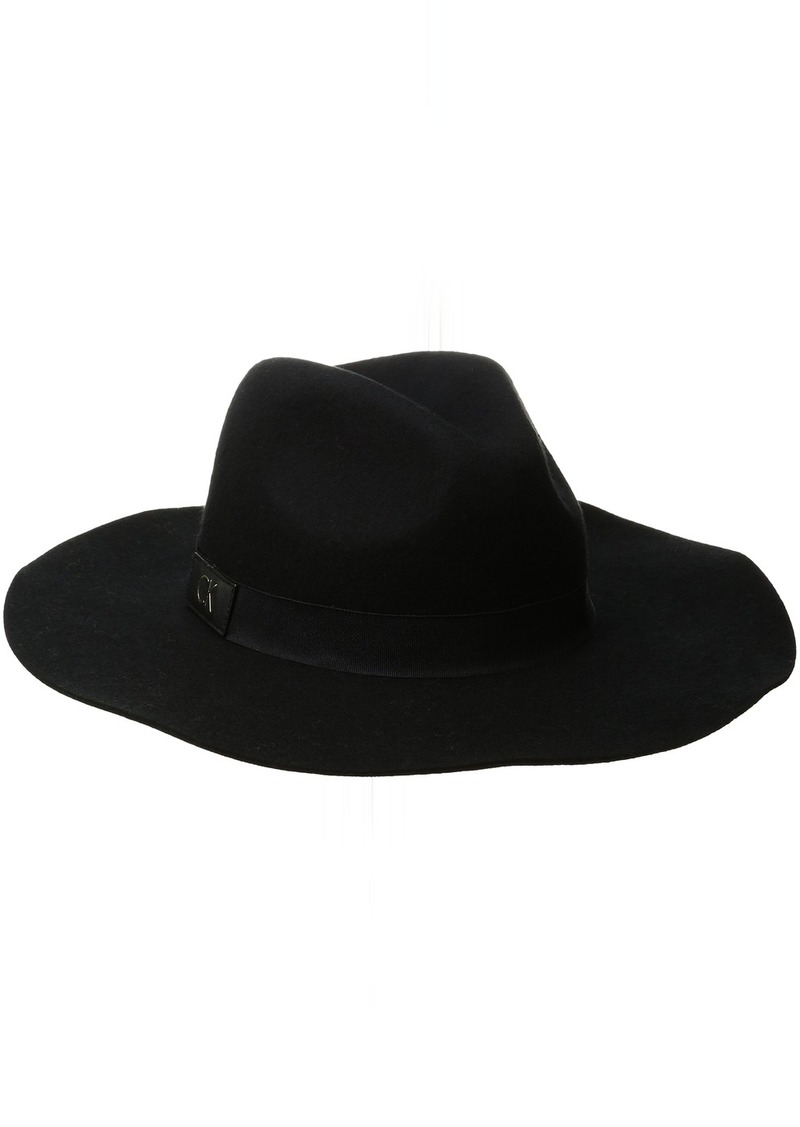 b7b28ed59de Calvin Klein Calvin Klein Women s Ck Patch Wool Felt Panama Hat ...