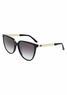 Calvin Klein Women's CK21706S Cat Eye Sunglasses BLACK