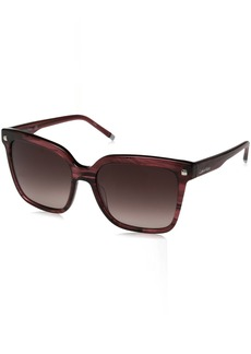 Calvin Klein Women's Calvin Klein Women's Ck4323s Square Sunglasses CK4323S-606 Square Sunglasses STRIPED WINE 56 mm