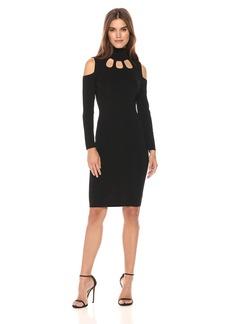 Calvin Klein Women's Cold Shoulder Cut Out Sweater Dress  M