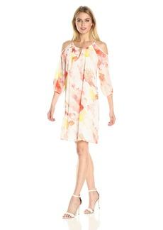 Calvin Klein Women's Cold Shoulder Dress with Keyhole