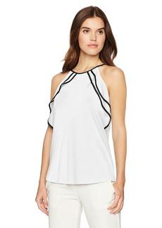 Calvin Klein Women's Cold Shoulder Ruffle Top  XL