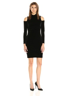 Calvin Klein Women's Cold Shoulder Velvet Dress