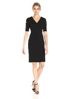 Calvin Klein Women's Cold Shoulders Sheath Dress