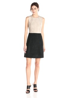 Calvin Klein Women's Color Block A-Line Dress