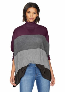 Calvin Klein Women's Color Block Dolman Cape  S/M