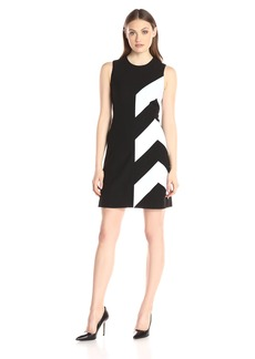 Calvin Klein Women's Color Block Flare Dress