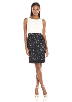 Calvin Klein Women's Color-Block Lace Sheath Dress