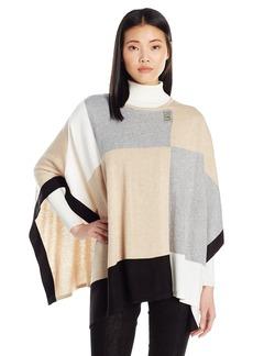Calvin Klein Women's Color Block Poncho Sweater