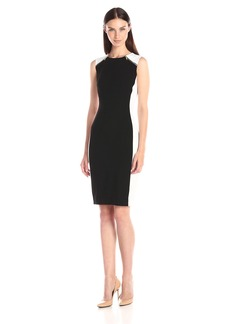 Calvin Klein Women's Color-Block Sheath Dress with Zip