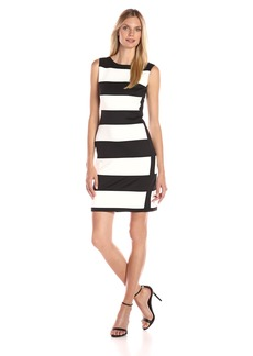 Calvin Klein Women's Color Block Sleeveless Scuba Dress