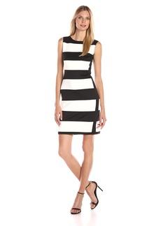 Calvin Klein Women's Color Block Sleeveless Scuba Dress