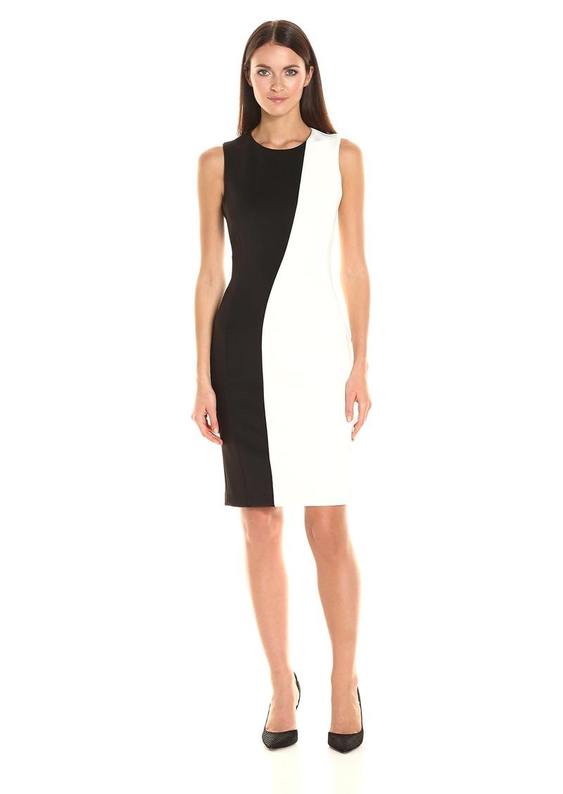 Calvin Klein Women's Color-Block Sleeveless Sheath Dress